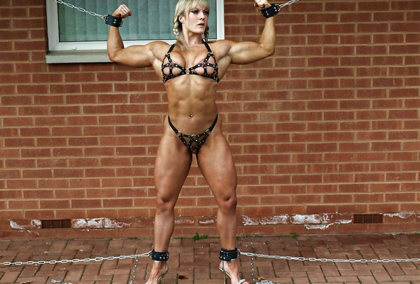 Bodybuilders in bondage