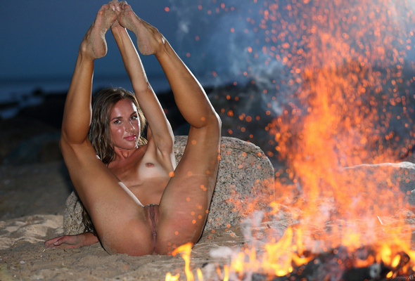 Fighter fire naked woman