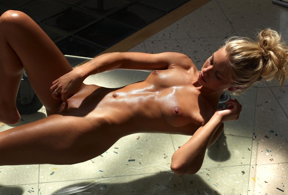 Tanned shaved oiled