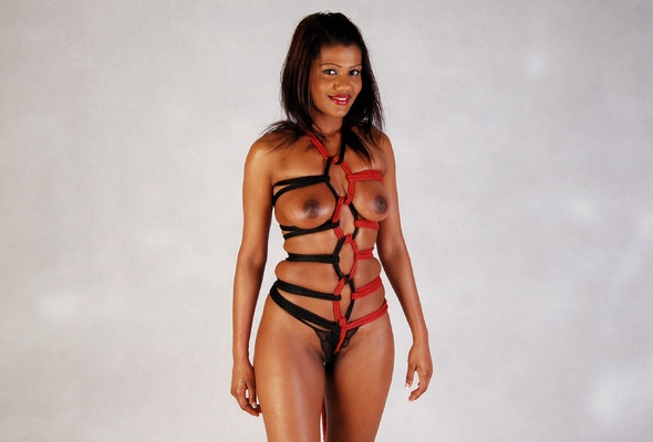 Ebony girl bondage