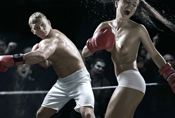 Amusing Girls fighting topless in shorts tell more