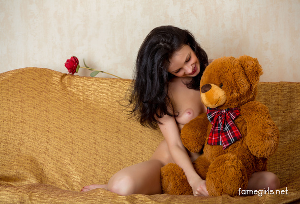 Good nude girl and a bear seems me