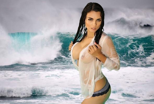 big boobs see through bikinis