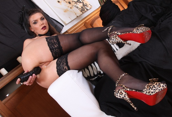 Asian Miles Black Lace Heels And Stockings Aloha Tube 1