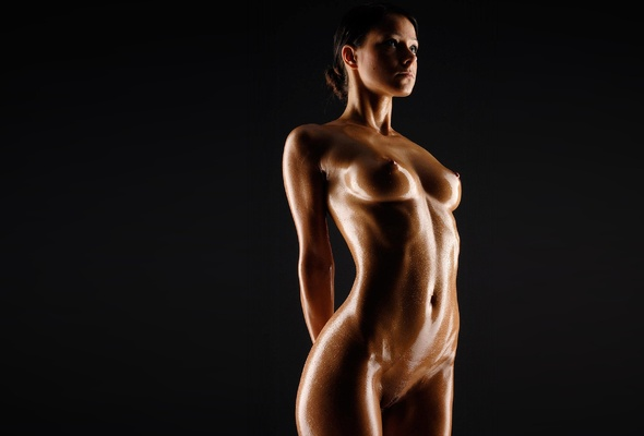 Something is. Oily wet nude babes