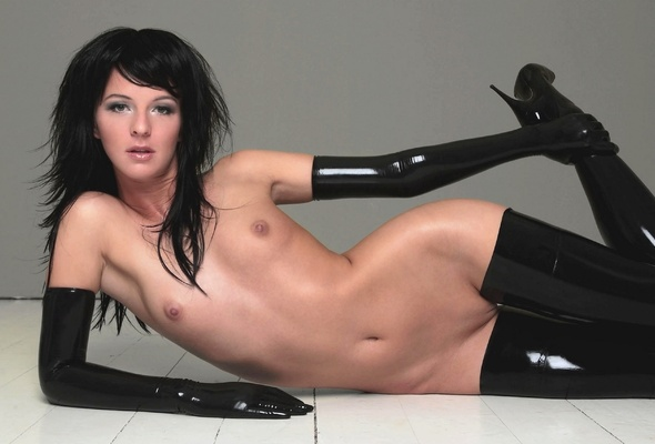 Wallpaper Brunette, Full Frontal, Nude, Latex, Boots, Sexy -9415