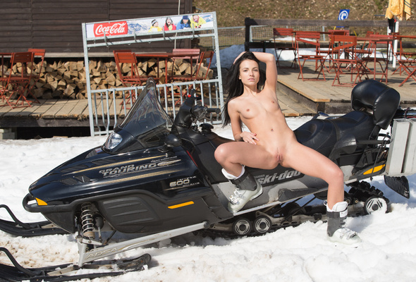 Girls nude on snowmobile 15