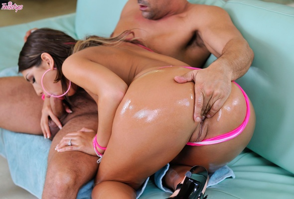 wallpaper august ames, brunette, pornstar, naked, oiled, oral sex