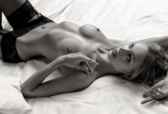 black and white pictures of topless women