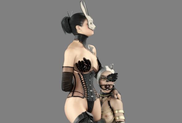 3d, bdsm, slave, mistress