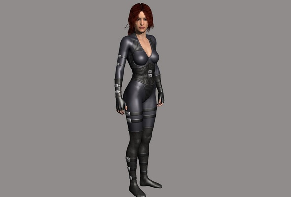 3d, girl, suit, graphics, bad quality