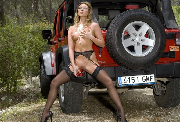 Teens nude on jeeps