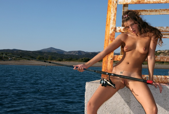 fishing rod in pussy