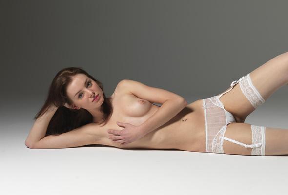 Blonde garter nude hot belt