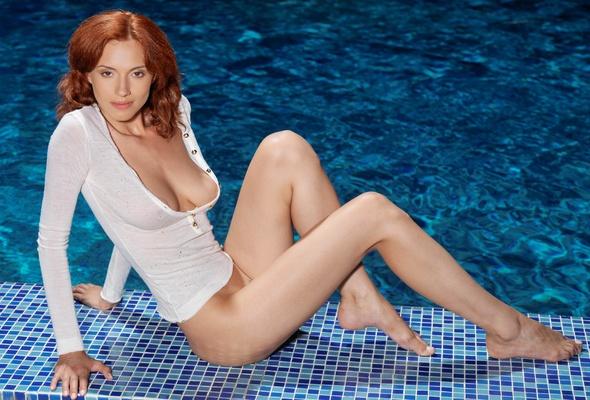 Wallpaper leka c, lera o, redhead, model, bottomless, no