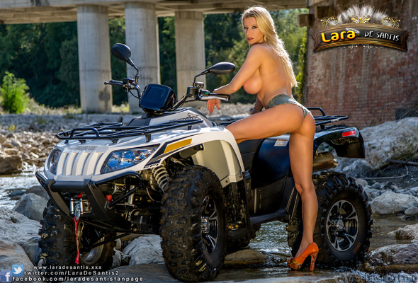 Pornstar Cums On Quadbike