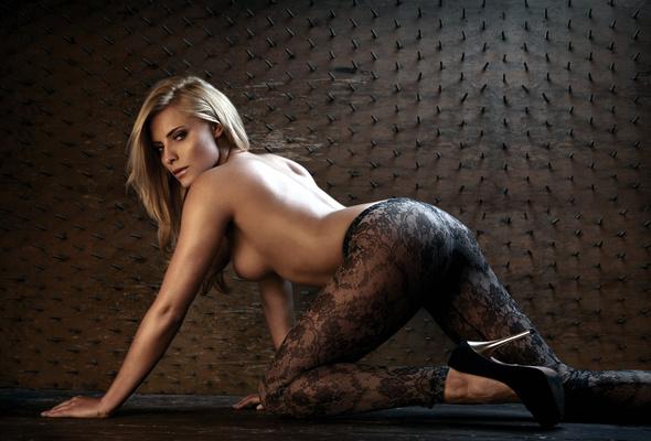 Semi nude lingerie models