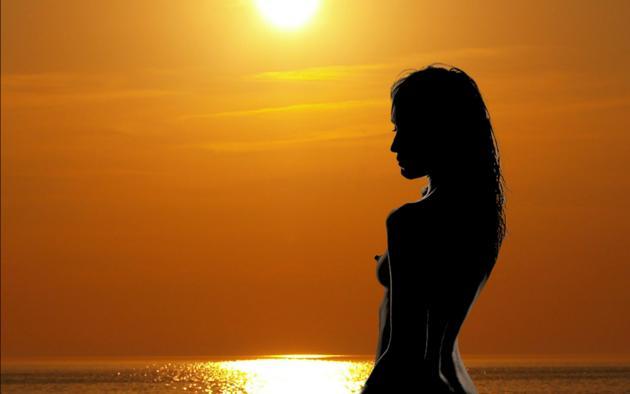Naked girls in sunset remarkable