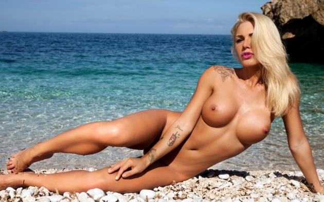 Blonde beach girls nude perky