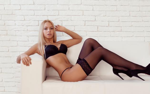 heels lingerie stockings Blonde