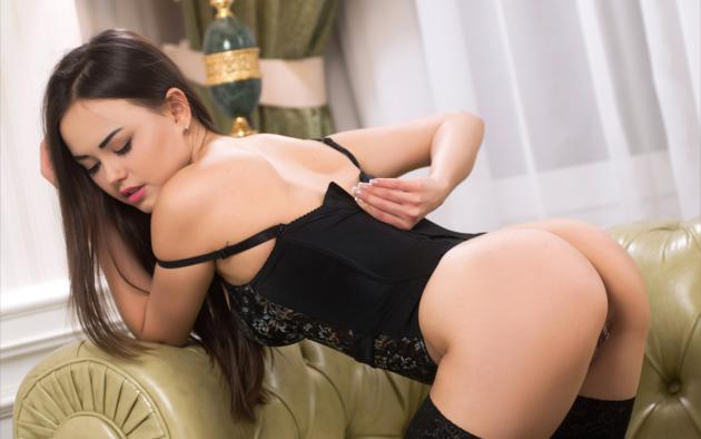 Corset girl sexy tits
