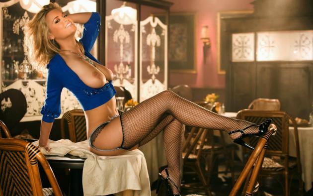 Big tits fishnet stocking lady having sex and cum swallow 6