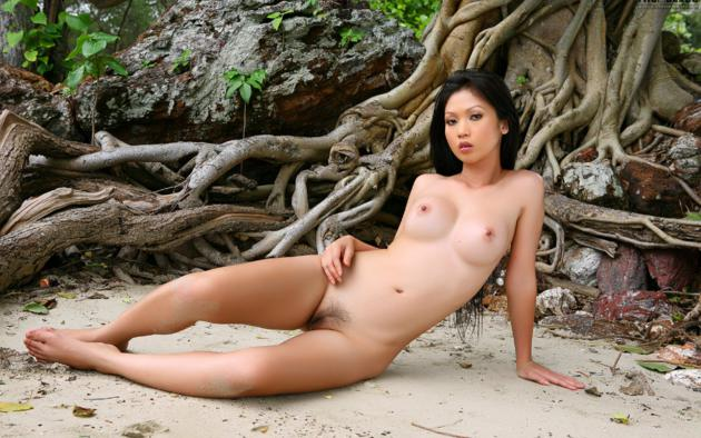 Naked girls laying down with legs open