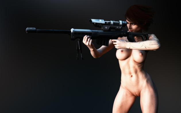3d, quix, unar, boobs, naked, hot, sexy, nude, sniper rifle, gun, ultra hi-q, best quality