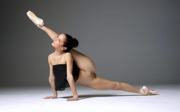 Wallpaper Magdalena, Brunette, Ballerina, Semi Naked -3610