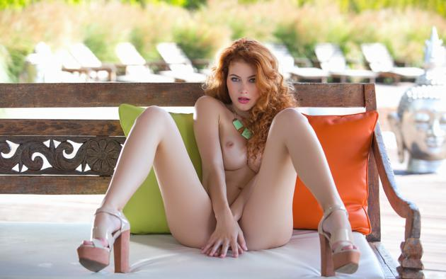 Consider, that naked sexy curly redhead for