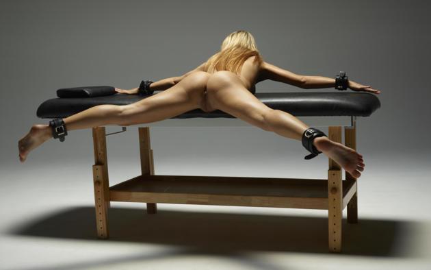 Sexy skinny blonde bdsm