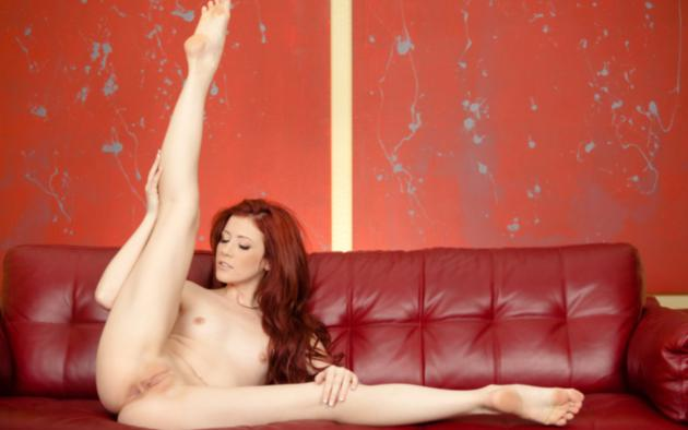 elle alexandra, red hair, sexy girl, nude, naked, tits, shaved pussy, sexy legs, spread legs, elle alexandria, elle e, pussy, small tits