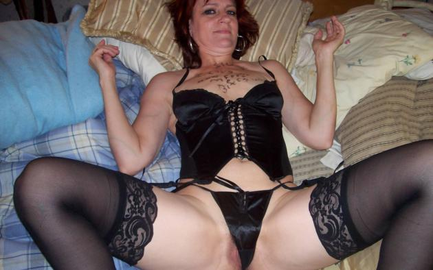 Amateur milf in lingerie
