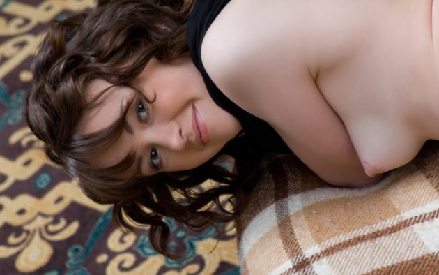 nastya e, black hair, puffy, nipple, tits, brunette