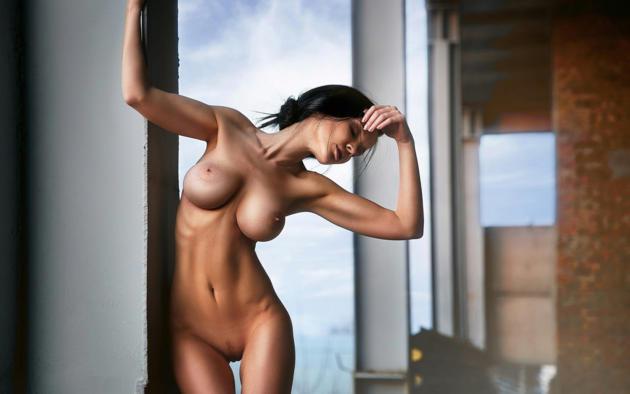 Nude body painted girl fucked