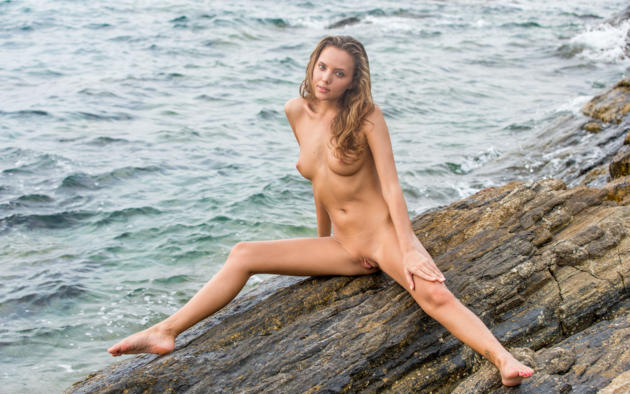 katya clover, clover, mango, mango a, caramel, beach, naked, small tits, nipples, shaved pussy, labia, spread legs, tattoo, tanned, hi-q, eavalla, katya, katyaclover