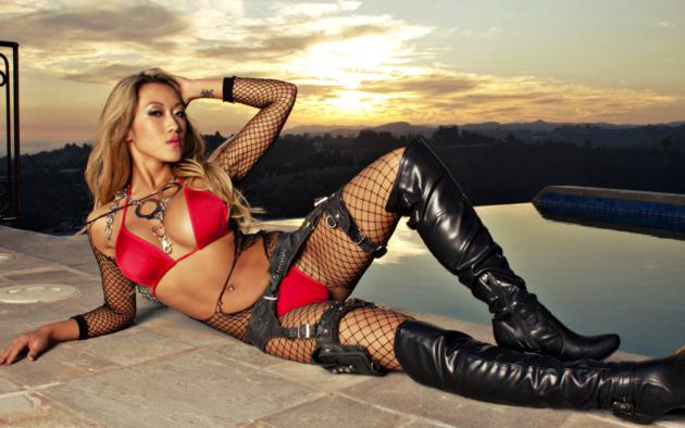 lana, slim, busty, exotic, adult model, asian, sexy babe, long hair, posing, laying, sexy, dressed, black, fishnet, bodystocking, leather, knee boots, red, bikini, hot, decollete, erotic, actiongirls, fetish babe, babes in boots, sunset, handcuffs, hand cuffs