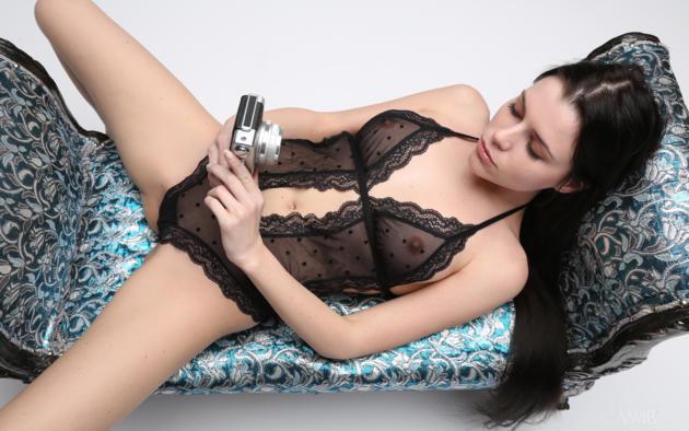 alexa, jessica, jasna, valeria a, safo, brunette, lengerie, see through, lace, tits, nipples, spread legs, sofa, camera, hi-q