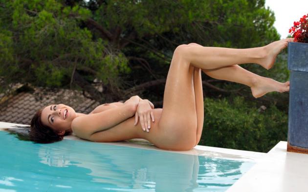 michaela isizzu, mila k, kalena a, brunette, pool, naked, tits, ass, smile, hi-q, isizzu, issizu, kalena, michaela, michaela b, michaela madarova, mila