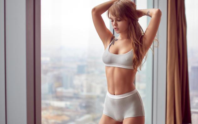 gym sexy girl cameltoe