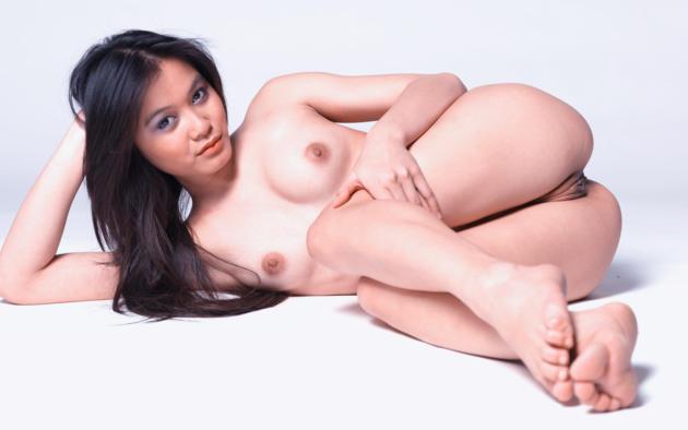 yoko, pussy, boobs, legs, tits, labia, nude, brunette, asian