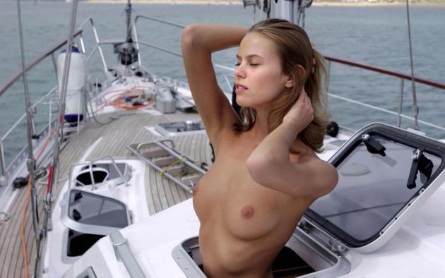Naked girls on the bed having sex