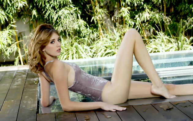 lena anderson, blaire ivory, model, swimsuit, pool, outdoors, long legs, beautiful legs