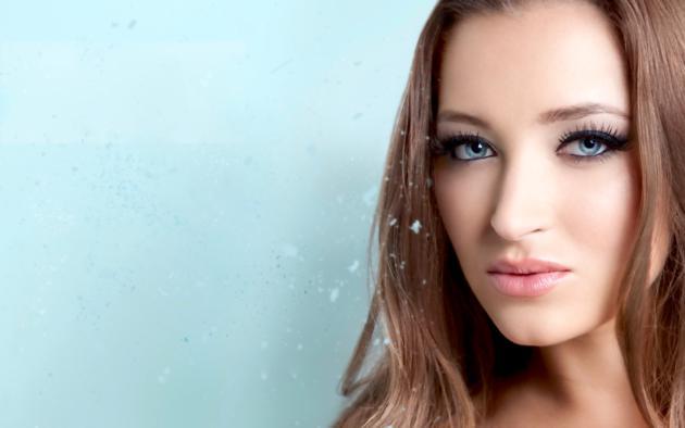 dani daniels, model, blue eyes, smile, 4k, face, portrait