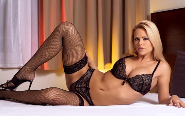 janet millar, gitta szoke, vivien b, wivien, vivian, blonde, model, sexy, hot, tits, breasts, big tits, stockings, bed, black stockings, fishnet, bra, panties, legs