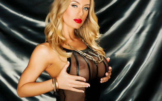nicole aniston, blonde, model, beauty, sexy, hot, tanned, big tits, boobs, fake boobs, see through, hi-q, rarely covered, super boobs