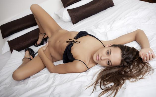 Brunette Bed Dominika Booty Of The Day 1