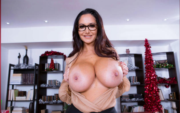 Ava Addams Christmas.Wallpaper Busty Brunette Big Tits Christmas Nipples