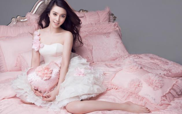 asian girls, asian, dress, smile, brunette, legs, flowers, fan bingbing, non nude, pillows