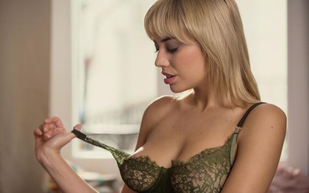 margo dumas, blonde, sexy girl, chica, bra, lingerie